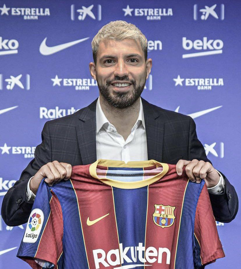 و سرانجام سرخیو آگوئرو در لباس بارسلونا (عکس)